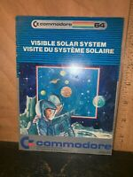 Vintage Commodore 64 Visible Solar System Game Insert Manual Instruction Booklet
