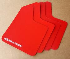 [SR] 03-15 Lancer EVO Evolution 8 9 X STARTER Mud Flaps Set RED w/ Vinyl Logo