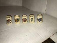 5 Miniature German Beer Steins Mugs
