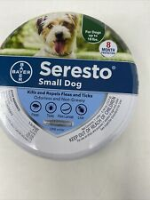 """Bayer Seresto Flea & Tick Collar For Dogs up to 18 lbs Small Dog 8 month, 15"""" L"""