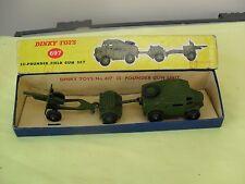 VINTAGE DINKY ARMY 25-POUNDER FIELD GUN SET,No 697,VNM, BOXED