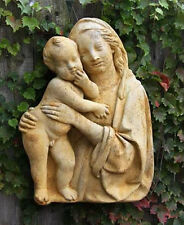 Madonna and Child Outdoor Garden Wall Art Decor Plaque Sculpture Fs9018