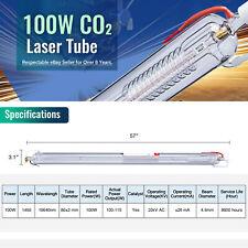 100w Co2 Laser Tube Peak 115w 1450mm 80mm For Laser Engraver Cutter Machine
