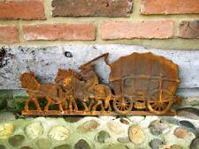 Historische Wanddekoration, Kaminplatte, Ofenplatte, Wandrelief - Bauernwagen