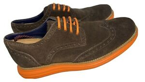 COLE HAAN LunarGrand C11097 Suede Ox Brown/Orange Men's Size 7.5 M