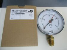 "Tecsis Manometer 0-4 BAR/MWS G 1/2  Ø100mm 1/2""  Neu OVP 1492.073.001"