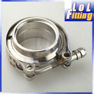 """1.5"""" Inch Self Aligning Male/ Female V-Band Clamp 304 Stainless Steel Flange Kit"""