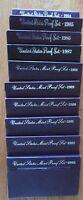 1984 - 1993 U.S. Mint 10 Proof Set San Francisco Mint Box and COA