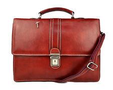 85bd459d2d Cartella pelle borsa ufficio uomo donna valigetta 24 ore borsa pelle rosso