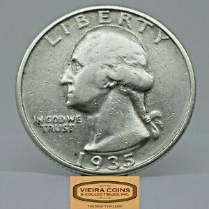 1935-D Washington Silver Quarter, Free Shipping - #C21872NQ