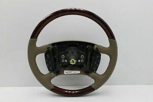OEM 06-10 Lucerne Walnut Burl Wood and Cashmere Leather Steering Wheel Controls