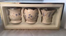 New Classic Lenox China Set Of 3 Floral Pattern Votive Candleholders