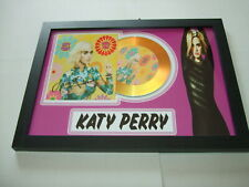 KATY PERRY    SIGNED  GOLD CD  DISC  65
