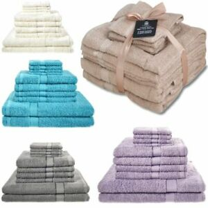 10er Set Handtuch Badetuch Badetücher Handtücher Gesichtstuch Großpack Baumwolle