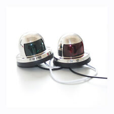 Pair of Marine Boat Yacht Navigation Lights 12V Bow Stainless Steel Housing