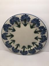 ONE LOUISVILLE STONEWARE CORNFLOWER BLUE BACHELOR POTTERY DINNER PLATE 11 1/4''