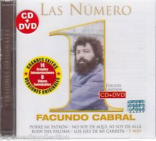 1 CD + 1 DVD Las Numero 1 De Facunto Cabral CD NEW 14 Exitos y 8 Videos NUEVO