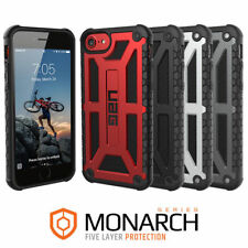 UAG Monarch Feather for iPhone SE 2020 / 8 / 7 Case Leather Metal Hardware Cover
