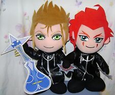 Kingdom Hearts DEMYX w/ Guitar AXEL Plush Doll Lot of 2