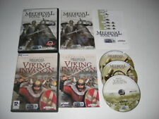 MEDIEVAL TOTAL WAR 1 + VIKING INVASION Expansion Pack Pc Cd Rom - FAST POST