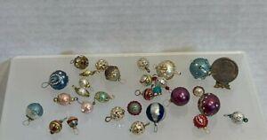 VTG Artisan Gorgeous Hand Decorated Christmas Ornaments Dollhouse Miniature 1:12