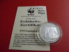 *WWF* Aerikanischer Elefant *Silbermedaille PP (999) ca.20g-38mm(Schub129)