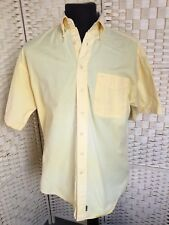 VINTAGE 100% cotton  1970's C&A BUTTON DOWN COLLAR YELLOW HDC SHIRT  Size 15.5