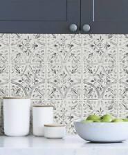 4 Pcs. Peel and Stick Vinyl Tiles 10x10'' Each Backsplash Kitchen Bathroom Wall