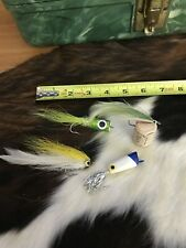 Group Lot Of 4 Large Fly Fishing Vintage Fishing Lure Lures Bucktail Tackle Nice