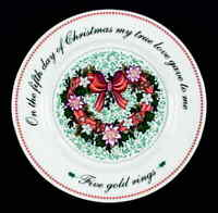 Domestications TWELVE DAYS OF CHRISTMAS Salad Plate (5th Day) 5862937