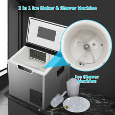 44lbs Commercial Ice Maker Machine Nugget Crushed Ice Self Cleaning Countertop