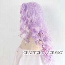 Light Purple Lace Front Wig Synthetic Hair Long Wavy Wigs Heat Safe For Women UK