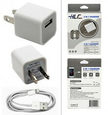2 in 1 Home Charger for IPhone7, Iphone 6, Iphone 5 (White)