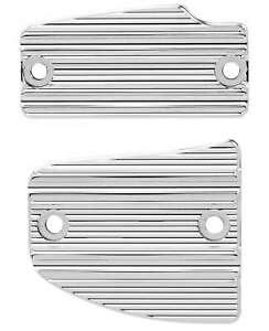 Arlen Ness Chrome 10 Gauge Master Cylinder Front & Rear Cover Kit Indian Scout
