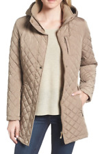 Womens CALVIN KLEIN Hooded Quilted Jacket Faux Fur Size Small