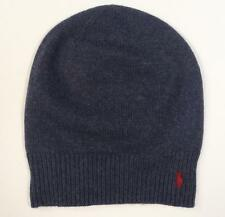 820f60f08454f Polo Ralph Lauren Blue Wool   Cotton Blend Beanie Red Pony Adult One Size  NWT