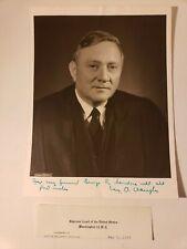 c.1958 SUPREME COURT JUSTICE WILLIAM O. DOUGLAS SIGNED PHOTO - EX REAGAN ATTY