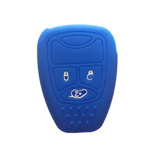 Navy Blue Silicone Key Skin Cover Jacket Protector fit for Dodge Jeep Chrysler