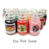 New YANKEE CANDLE Large Jar Candle 22 oz Many Scents (U Pick Scent) USA