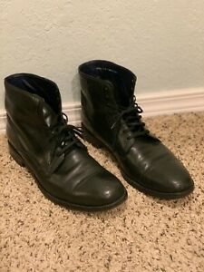 COLE HAAN C10866 Black Leather Lace-Up Ankle Boots Size 11