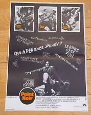 POINT NOIR Affiche cinéma 40x60 JULES DASSIN, RAYMOND SAINT-JACQUES, RUBY DEE