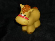 Fisher Price Little People Farm Tan Horse Pony #1
