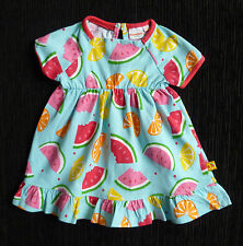 Baby clothes GIRL 0-3m NEW! fruits Blue Zoo Debenhams cotton turquoise dress