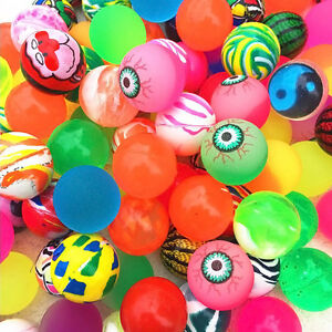 10pcs 27mm  Bouncy Jet Balls Birthday Party Loot Bag Toy Fillers Fun For Ki M7N6