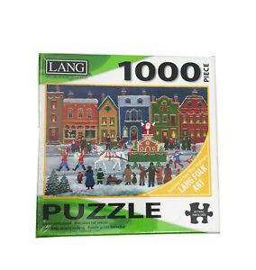 NWT Lang Folk Art 1000 Piece Puzzle Christmas Parade 29x20 inches