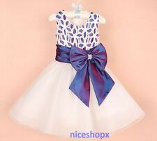 10330af387 Girls Flower Formal Wedding Bridesmaid Party Prom Christening Dress Hot  Pink 1-2 Years