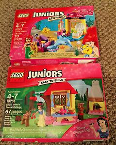 LEGO Juniors 10723 Disney Ariel's Dolphin Carriage 10738 Snow White's Cottage