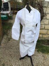 VESTE ET TABLIER De Cuisine ou restauration neuf en coton et épais Taille 50