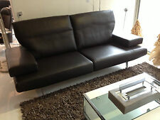 Artanova Funktionssofa Sofa Couch Elios Leder 2,5 Sitzplätze dunkel braun