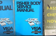 1970 CHEVROLET VEGA FISHER BODY SERVICE MANUAL ORIGINAL  EN ANGLAIS